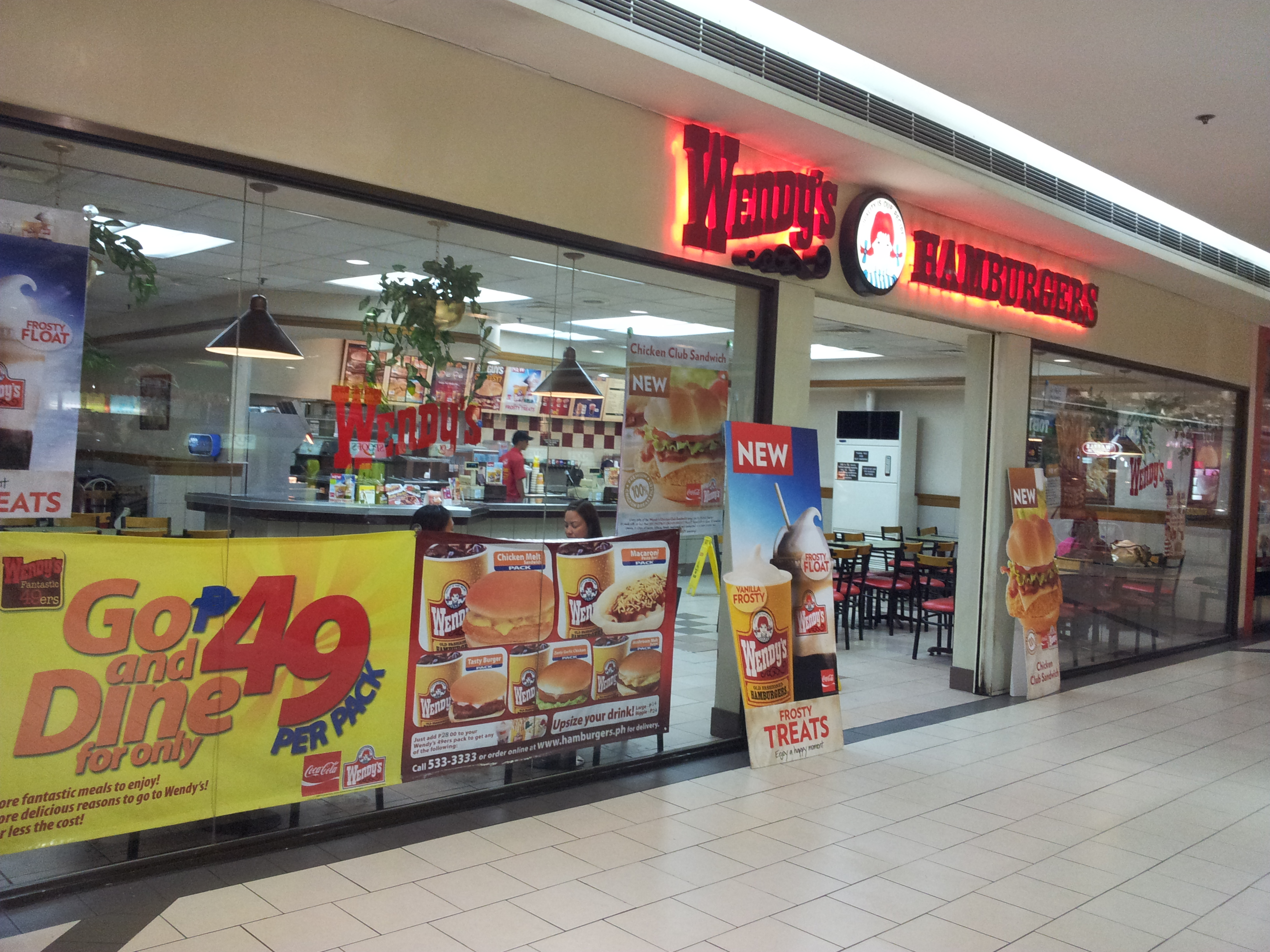 A Wendy's outlet in Manila, Philippines.