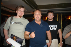 Alex Jones and fans at the Première of   A Scanner Darkly   , a film by  Richard Linklater  , in which Jones has a cameo.   [30]