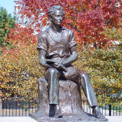 The young Lincoln in sculpture at Senn Park, Chicago.