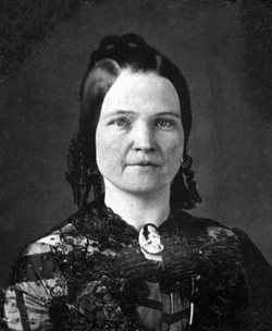 Mary Todd Lincoln                                , wife of Abraham Lincoln, age 28
