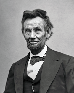 Lincoln in February 1865, about two months before his death.