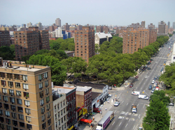East Harlem neighborhood of New York City, where Shakur was born