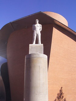 Statue of Shakur at the MARTa museum in Herford, Germany.