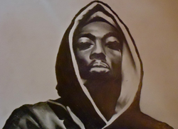 A drawing of Shakur