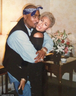 2Pac and Jada Pinkett