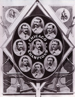 The 1876 White Stockings won the N.L. championship