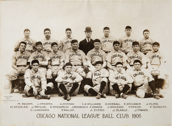 The 1906 Cubs won a record 116 of 154 games. They then won back-to-back World Series titles in 1907–08