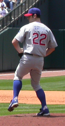 Mark Prior, along with Kerry Wood, led the Cubs' rotation in 2003.