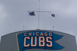 Flag commemorating 10,000 wins