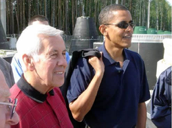 Obama and U.S. Sen. Richard Lugar (R-IN) visit a Russian facility for dismantling mobile missiles (August 2005)[203]