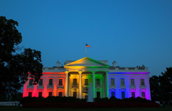 The White House was illuminated in rainbow colors on the evening of the Supreme Court same-sex marriage ruling