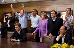 G8 leaders watching the 2012 UEFA Champions League Final