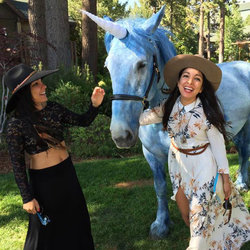 Miki with a friend and aUnicorn