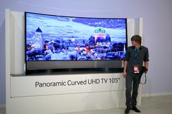 Samsung UN105S9 105 inch ultra-high-definition 4K television.