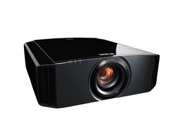 """A JVC """"e-shift"""" projector results in 4K pixel resolution on the screen."""