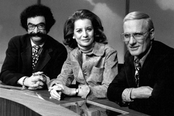 Gene Shalit, Barbara Walters, and Frank McGee in The Today Show, 1973.