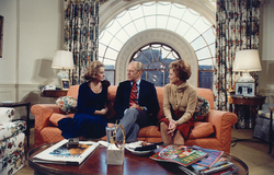 Walters interviewing President Gerald Ford and Betty Ford in 1976.