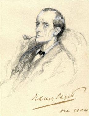 Portrait of Sherlock Holmes by Sidney Paget, 1904