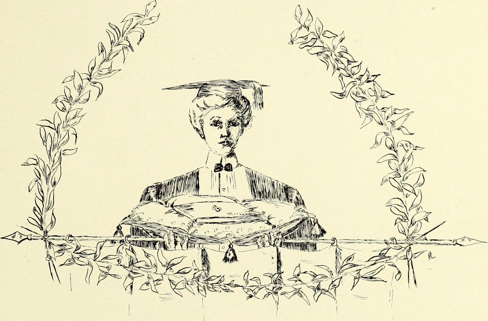 "A 1902 depiction of a ""modern"" Barnard women."