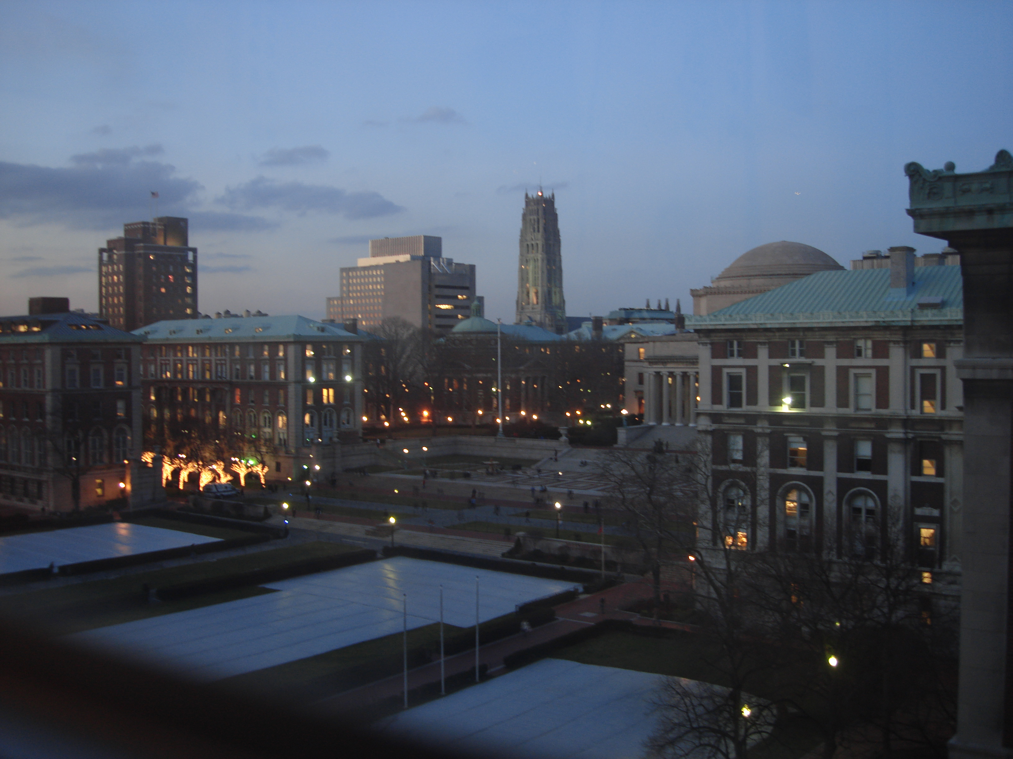 Sunset overlooking Barnard Hall
