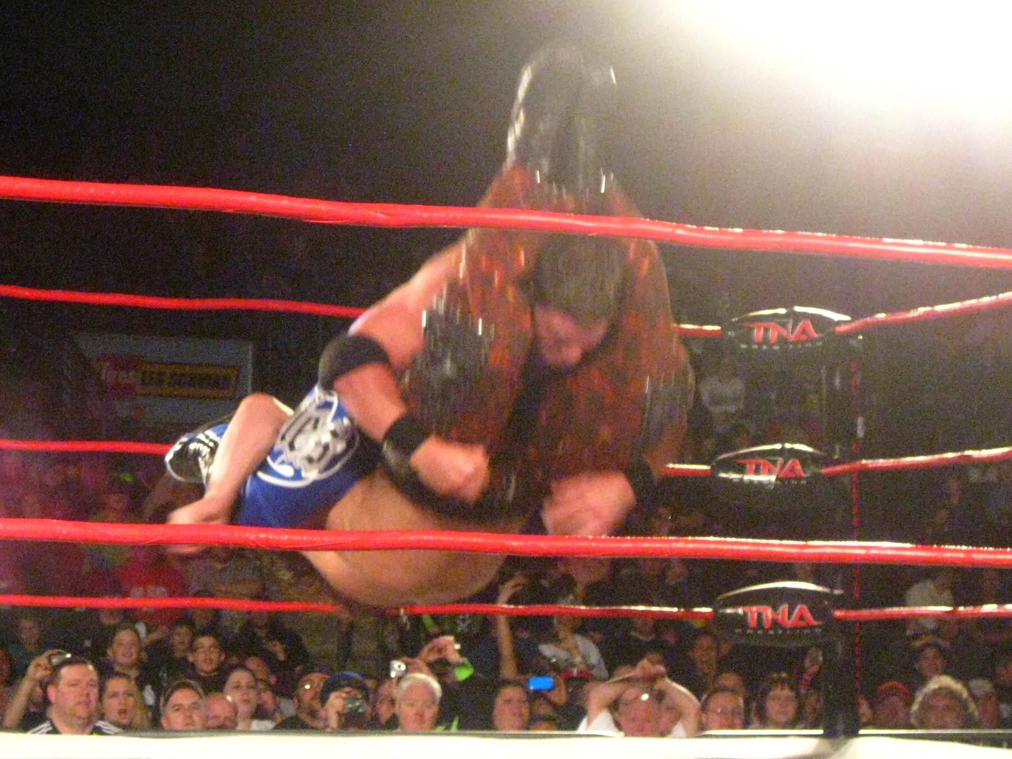 Styles performing the Styles Clash.