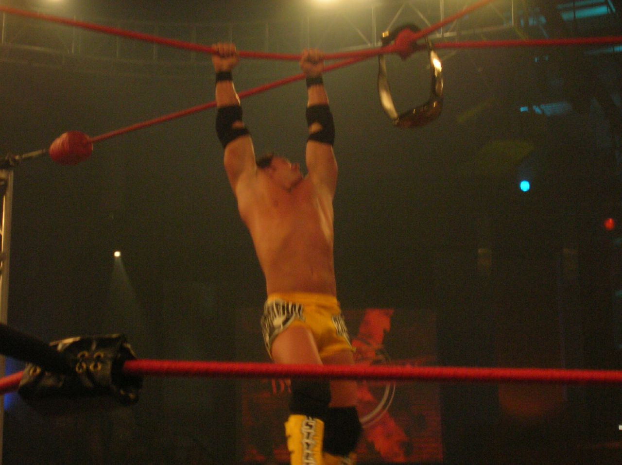 Styles participating in an Ultimate X match.