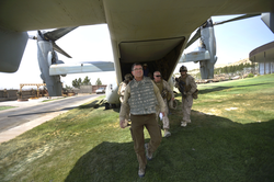 Carter arrives in Herat, Afghanistan, in 2013