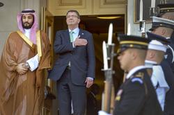 Carter with Saudi Defense Minister Mohammad bin Salman Al Saud, Pentagon, May 13, 2015