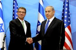 Carter meeting Israeli Prime Minister Benjamin Netanyahu in Israel, 21 July 2015