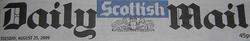 The Scottish Daily Mail header