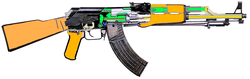 The gas-operated mechanism of a                                 Chinese AK-47