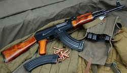 AK-47 with stamp-steel magazines