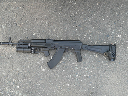 AK-103 with                                 GP-34                                Grenade Launcher