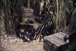 AK-47's of the                                 PAIGC                                -liberation movement, ready to be transported from Senegal to Guinea-Bissau, 1973