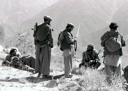 During the                                 Soviet war in Afghanistan                                in the 1980s, several sources simultaneously armed both sides of the Afghan conflict, filling the country with AK-47s and their derivatives.                                                   [81]