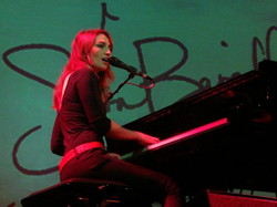 Bareilles' success with Little Voice led her to tour Europe; she is pictured here in her first tour of the Netherlands