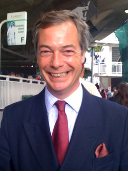 Farage attending the 2009 Ashes series at Lord's Cricket Ground