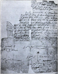 The original 1636 deed to Providence, signed by Chief Canonicus.
