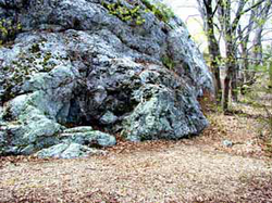 """King Philip's Seat"", a Native American meeting place on Mount Hope, Bristol, Rhode Island."