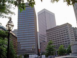 Textron's headquarters, in the company of One Financial Plaza and the Rhode Island Hospital Trust building.