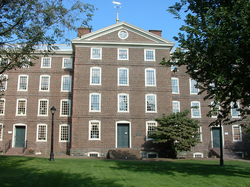 University Hall at Brown University is one of the oldest academic buildings in the United States.