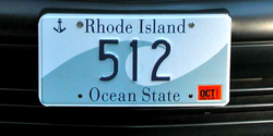 "An example of a ""low"" three digit license plate"