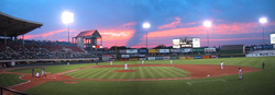 McCoy Stadium where the Pawtucket Red Sox play baseball