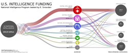 Data visualization of U.S. intelligence black budget (2013)