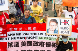 Hong Kong rally to support Snowden, June 15, 2013