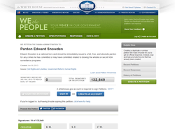"""We The People"" petition to pardon Snowden at the White House website"