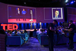 Speaking via telepresence robot, Snowden addresses the TED conference from Russia