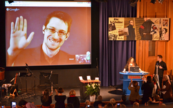The International League for Human Rights awards the 2014 Carl von Ossietzky Medal to Snowden, Poitras and Greenwald.