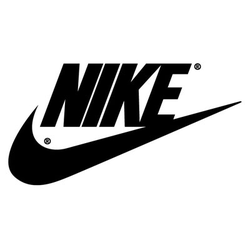 Old logo of Nike, Inc., still used on some retro products with red boxes