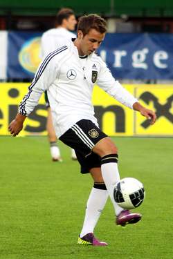 Nike sponsors                                 Mario Götze                                and many other players and clubs in football